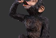 Animals Gone Wild Statues / Wild and life size fiberglass jungle animal statues
