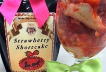 Strawberry Shortcake,  easy way / I use strawberry shortcake blend from our own recipe, add milk and egg. Bake it off and layer it in a deep goblet.  Top with whipped cream and mint leaf.  / by carolinas harvest