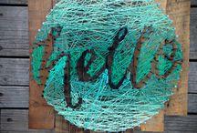 Нитки, доски / Плетение надписей, узоров