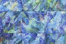 Blue quilts & textile art