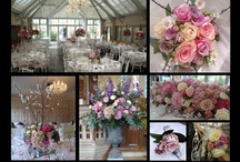 Botleys Mansion Wedding Flowers / A selection of wedding flowers including Hand Tied Bridal Bouquets, candelabras, button holes, corsages, table centres and top table displays) from some of our many weddings at Botleys Mansion.