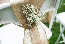 simple Wedding chairs decoration