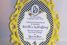 Bee Party - Briella / This Bee 1st Birthday Party I designed for Brielle.
