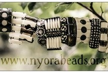 Nyora Beads Bracelets / Our products are fair trade and handmade in the slums of Kibera in Nairobi, Kenya. Every dollar you spend goes directly into a scholarship fund to send kids in Kenya to school. Learn more at www.nyorabeads.org!