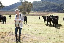 The tale of Hannah and Clementine Logan /  The idyllic, newly renovated home of Hannah Logan in Apple Tree Flat, NSW, which she shares with her winemaker husband Peter, their beautiful, bubbly, blue eyed five-month-old daughter Clementine, Dalmatian dog and a handful of very curious cows.
