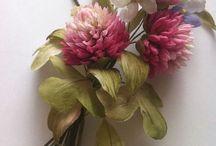 Fabric flower sprays