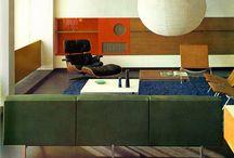 Modernist interior colour
