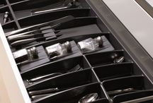 Tidy & Terrific Drawers with Impala Plastika / Elegant yet functional, Impala Plastika cutlery drawer organisers are made from high-quality, enviromentally-compatible plastic. Multiple sizes, easy clean surface and inserts for spice bottles and drawer knife block inserts make this system a great way to maximise kitchen drawer organisation and minimise frustrating, time consuming clutter.