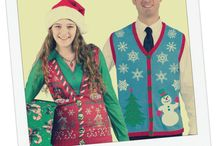 Ugly Sweaters / Let's hear it for the Ugly Sweaters! They're hideous. They're embarrassing. And they're downright festive. ... Pin your favorite Ugly Sweater for a chance to win a $50 BuyCostumes.com gift card. Tag it with @BuyCostumes and #BCUglySweater, and then fill out the entry form at http://shout.lt/L9bF.