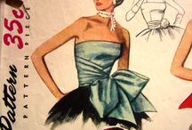 Vintage sewing patterns and Vintage illustrations / These are mostly vintage patterns, some I recognize as old patterns my mother had and ones I bought over 50 years.  I really love the old fashions, especially women and children.  What happen to all that style, and feminism? / by Diane Leyh