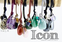 """ICON"" / A tiny collection of pendants with several gems."
