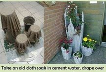 Cement flower planters