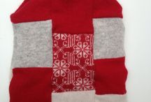 Handmade Christmas Gifts / Handmade by the Woolly Pedlar from locally sourced, recycled knitwear, making these environmentally friendly Christmas presents that help reduce the drain on the planet's resources