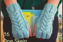 One Skein Knitting and Crochet Free Patterns / One skein projects means there quick to knit or crochet.  Great for gifts! Check out these one skein knitting and crochet patterns. Find cozy knitted cowl patterns, lacy scarves, knit hat patterns, and more.