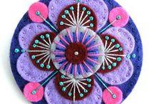 flores de paño lenci