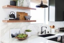 Kitchens in black and white