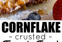 Cornflake encrusted French toast