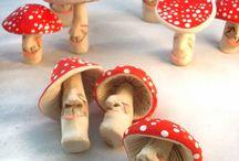 Ceramic Toadstools / Craft