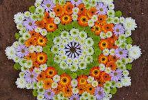 mandaly z květin