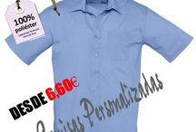 """Camisas Personalizadas / Camisas personalizadas con serigrafía, vinilos, estampación de calidad para ropa de empresas, laboral, camisas para hoteles, camisas para restaurantes, todo tipo de personalizaciones. Camisas de poliéster y algodón serigrafiadas. Grupo Textil """"Andaluza de Serigrafía"""" Telf. 955114744.- www.grupotextil.es"""