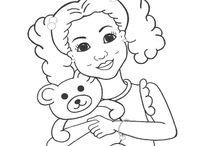 Drawing little girls