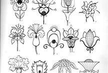 слилизованные цветы