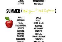 fruit/vegetables when in season