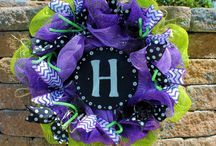 Deco mesh wreaths / by Just Serina