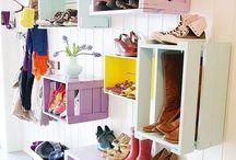 Rangements / Des rangements pratiques, déco, et originaux ! Inspirations de petits rangements pour organiser sa maison de façon pratique.