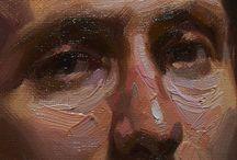 Rostopaisagem / Rostopaisagem faz parte de uma série de pinturas à óleo s/tela, realizada por Paulo Frade e finalizada em 2014.   Medindo 30 x 20cm, traz ao campo pictórico o rosto de um homem, quase em tamanho real, pintado com largas e fartas pinceladas de tinta à óleo e liquin oleopasto.