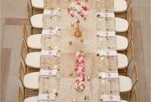 Table settings / Reception table settings