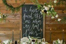 wedding chalk backdrop