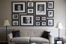 Ubicación fotos en una pared