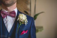 Button holes / Photographs of wedding button holes.