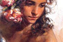 portraits oil