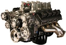 6.1L Hemi with Imagine Fuel Injection Stack System  / Custom 6.1L Hemi with Imagine Injection Stack(less) System. Displayed with discontinued Billet Serpentine Pulley System. Produced 620HP. Are you looking for something special for your Hot Rod? Check us out at spsengines.com.