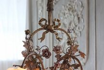 Chandeliers, Lighting, Candlesticks / by Kathy Collett