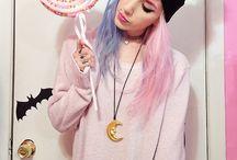 Pink style pastel goth