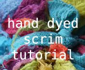 Hand dyeing fabric
