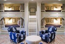 Built in Bunk Beds Room Design Ideas