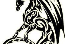 Тату-дракон