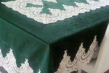 kadife masa örtüsü
