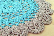 Crochet doily rug - Szydełkowe dywaniki