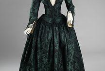 krinolína 1850-1860 / šaty tzv. druhého rokoka 1850-1860