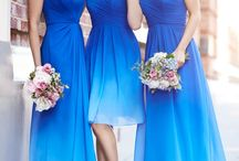 blue themed weddings