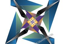 """Personal Yantras / Personal Yantras or """"Soul Yantras"""" are unique geometric signature of a person's name and birthday. They follow the traditional methodology of yantra creation, only we use a person's numerology. The geometry is mapped to a powerful magic square of the sun and captures the vibration of the person or affirmation used. To learn more about soul yantras, visit http://www.numberadvantage.com/about-yantras/"""