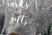 Perspex Wedding Signs