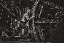The man and the iron / Model: Grzegorz Jamróz concept & photo: Piotr Jan Gajewski