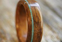 wedding bands rosewood titanium