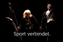 Sport verbindet Menschen. / Die Sprache Sport spricht jeder.